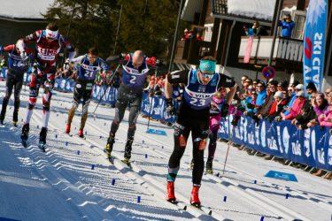 Pro skiers