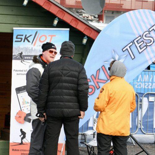SKIIOT stand in Levi_ Marko Höynälä