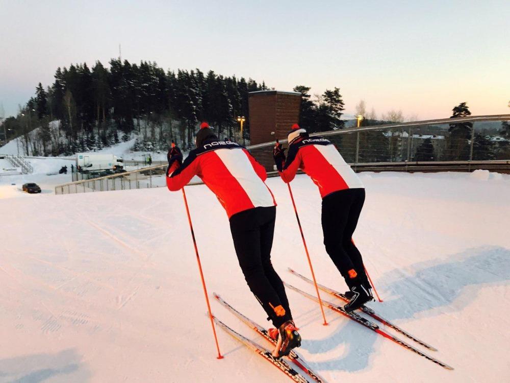 SKIIOT skiing analyzer on skiers