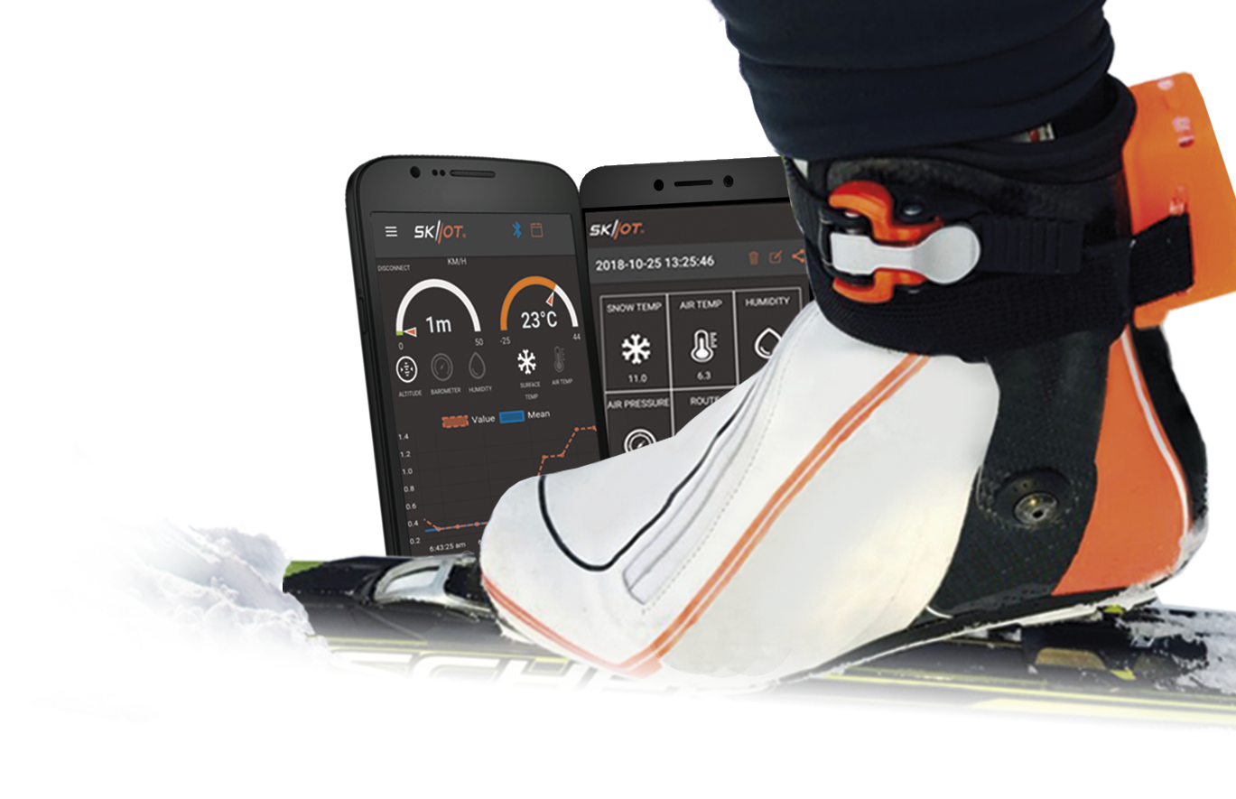 ski boot with skiiot analyzer and application